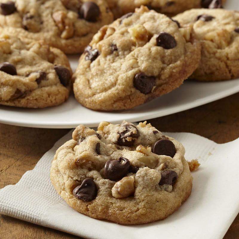 Cookies Aux Pepites De Chocolat Et Aux Noix Recette Vahine